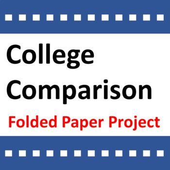 College Comparison Activity Folded Paper Project College