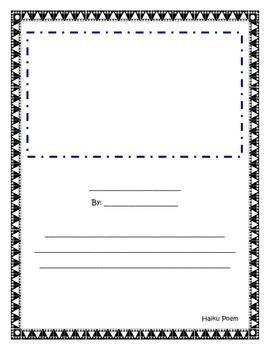 Haiku Template | Haiku Writing Template 4th Grade Language Arts Teaching