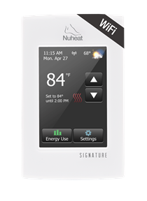 Nuheat Signature Wifi Thermostat For In Floor Heating Connects To Nest Thermostat Floor Heating Systems Radiant Floor Heating