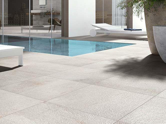 Pavimento de gres porcel nico efecto piedra para for Pavimento porcelanico