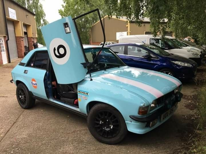 Gulf Scissor Door Austin Allegro Motorsport Racing Cars