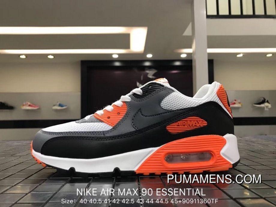 reputable site df68f 587db Nike Air Max 90 Essential 537384-128 Mens Retro Running Shoes White  Anthracite-Cool Grey-Black Super Deals