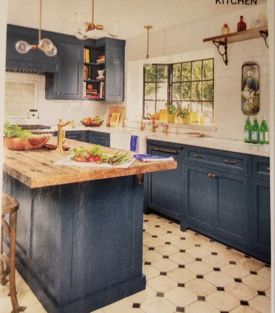 Best This Old House June 2018 Blue Kitchen Cabinets Blue 400 x 300