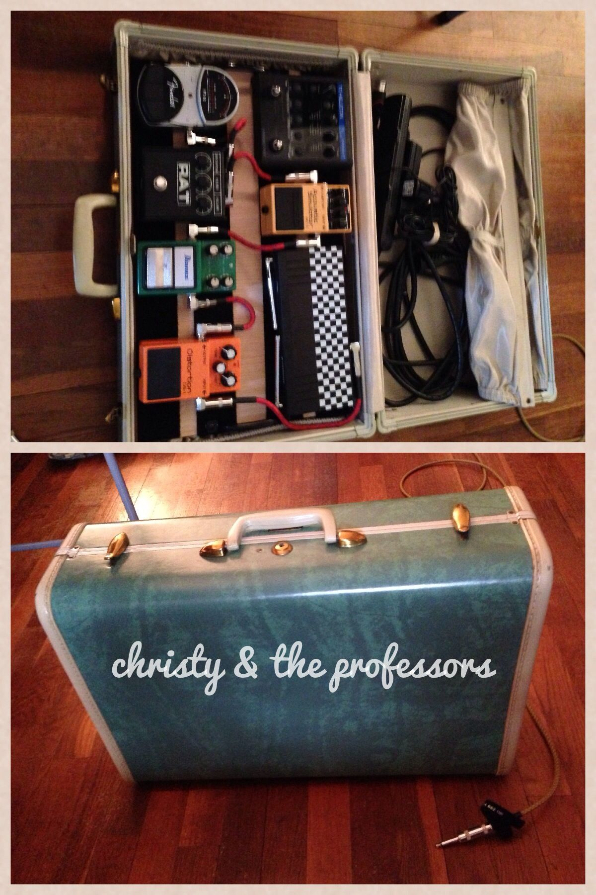DIY pedal board from a vintage suitcase! | Diy pedalboard ...