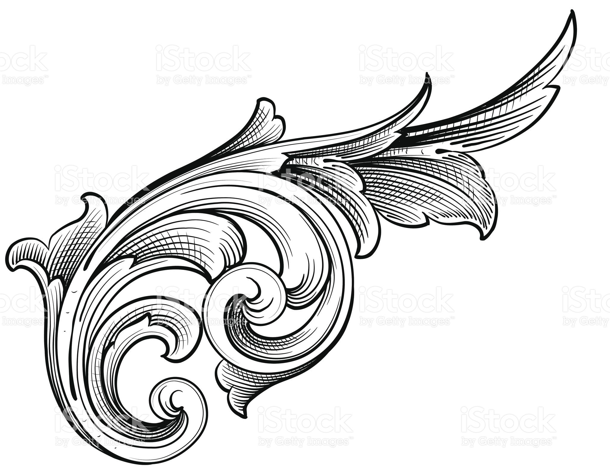 Designed by a hand engraver, this carefully drawn and