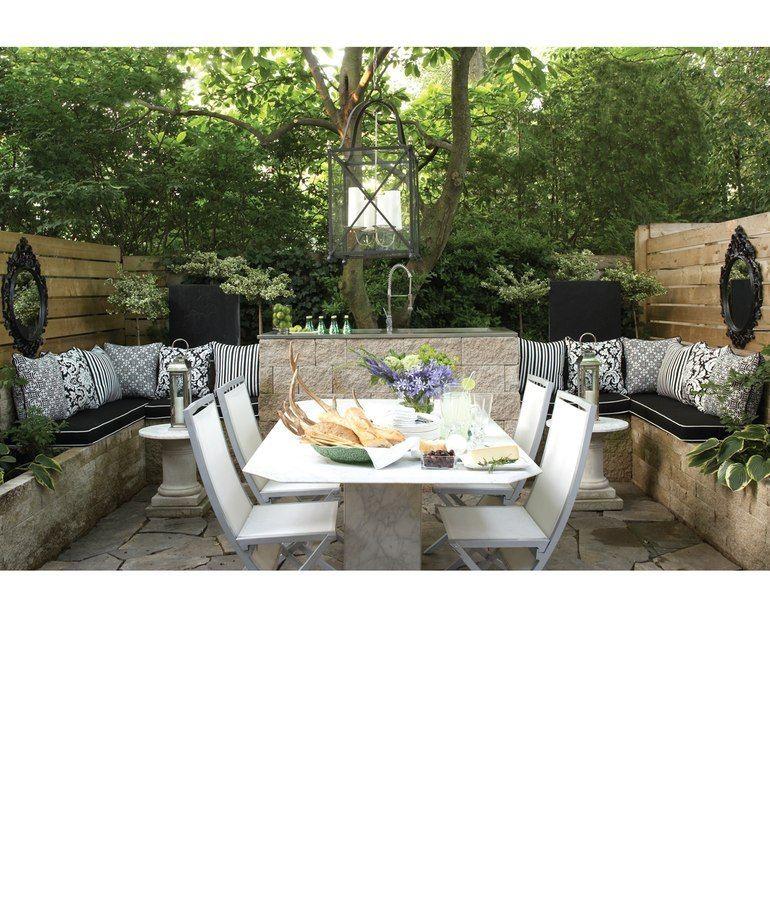 Ideal Backyard Patio For Small Condo Space.