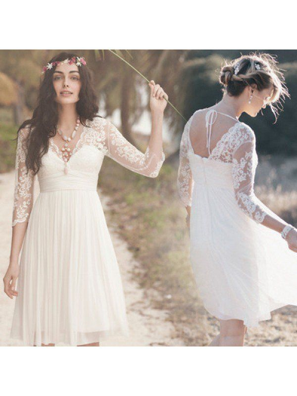 New Arrival White Lace Homecoming Dresses,Long Sleeves Graduation ...