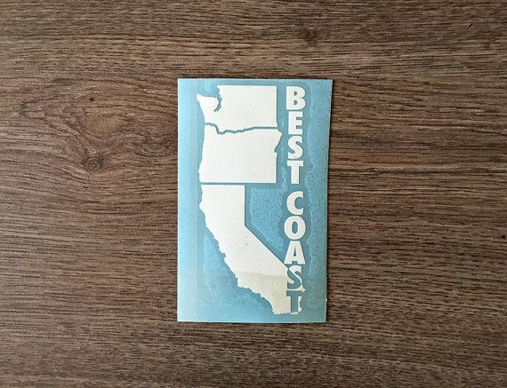 West coast best coast decal for car windows water bottles laptops almost anywhere