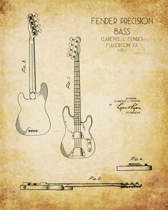 Guitare basse plan de style art print brevet de guitare blueprint guitare basse plan de style art print brevet de guitare blueprint guitare art de la guitare cadeau mari cadeau de nol amoureux de la musique malvernweather Gallery