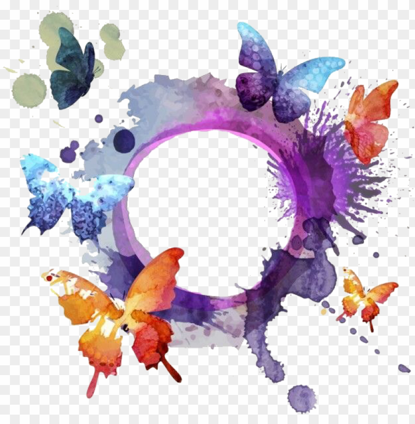Watercolor Butterfly Png Image With Transparent Background Png Free Png Images Butterfly Watercolor Painting Drawing Painting Illustration