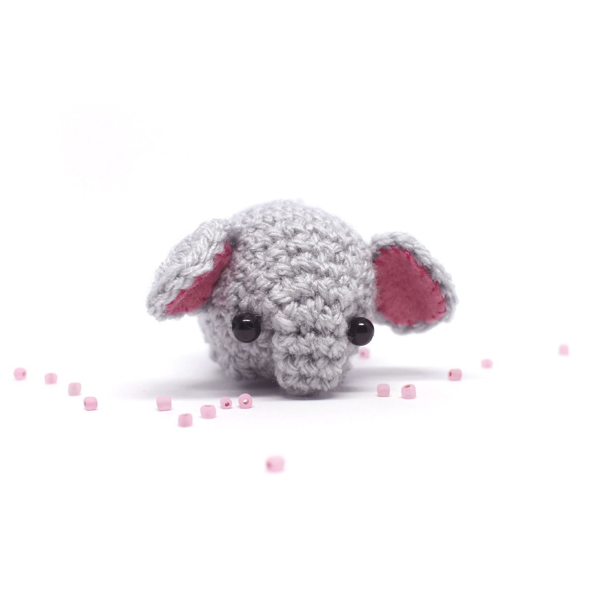 Miniature elephant toy from mohu store. #crochet #amigurumi #toys ...