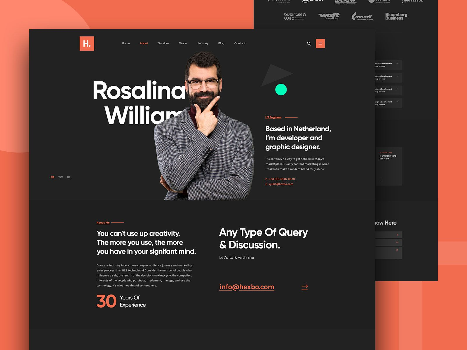 Hibix Personal Portfolio Design Personal Portfolio Portfolio Design Portfolio Website Design