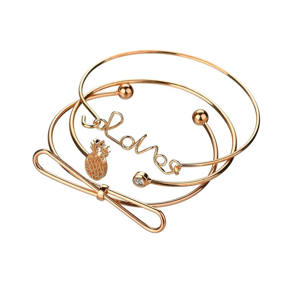 f64e5b859944a New Fashion Women's Bracelets Punk Style 3Pcs/lot Open Bracelets ...