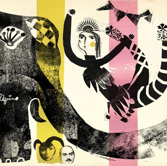 'circus' detail - andrea daquino - collage, drawing, monoprint