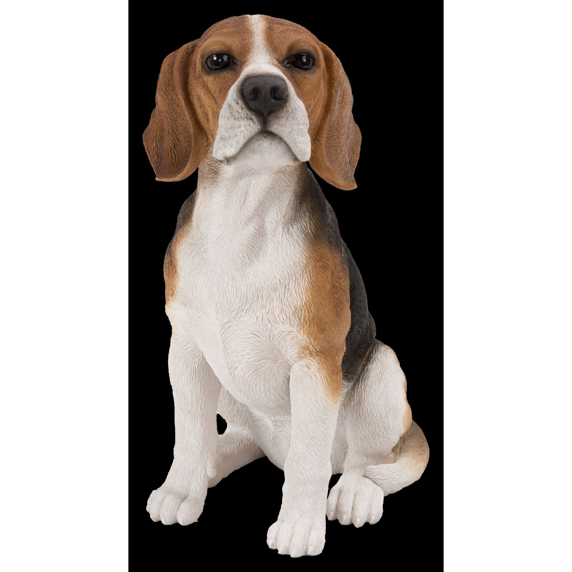 14 75 Brown And White Beagle Dog Sitting Outdoor Garden Statue