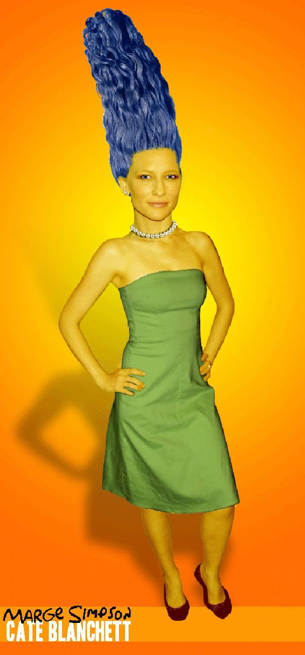 The Simpsons Celebrity Makeover Cate Blanchett As Marge Simpson