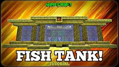 How To Make A Fish Tank Minecraft Youtube Fish Tank Minecraft