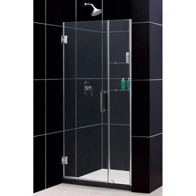Dreamline Unidoor 40 X 72 Hinged Frameless Shower Door With