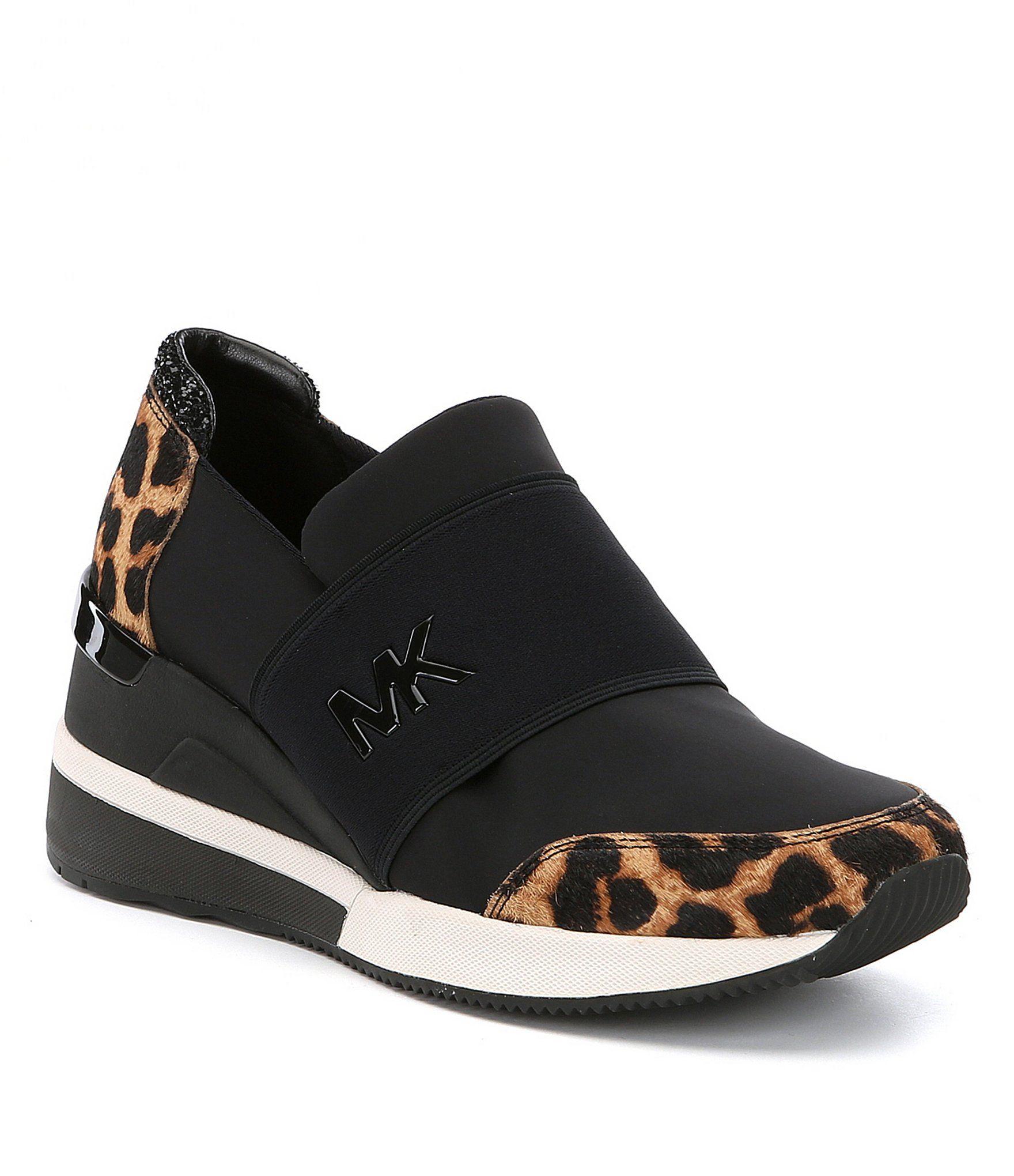 08ecee362bc8 MICHAEL Michael Kors Felix Cheetah Print Calf Hair Trainer Sneakers   Dillards