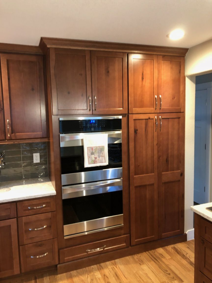 Homecrest Cabinets Hickory Wood With Terrain Stain In 2020 Homecrest Cabinets Hickory Cabinets Kitchen Remodel