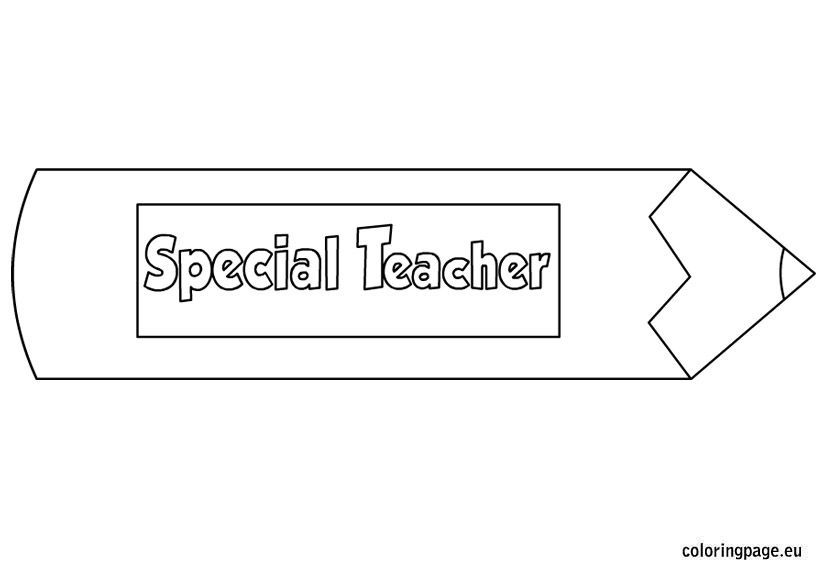 special teacher coloring page
