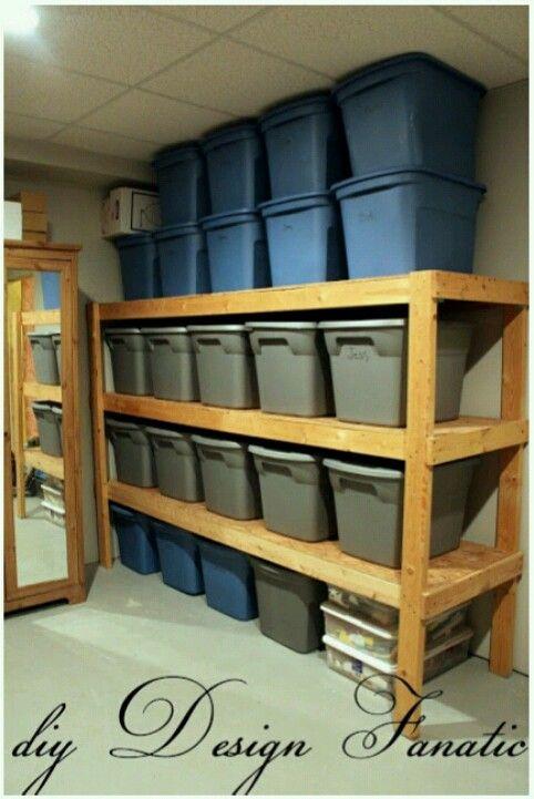 Diy Build Your Own Shelves Made Using 2x4 S 1 2 Osb For Shelving Use Screws To Put Together Diy Storage Shelves Diy Storage Home Organization