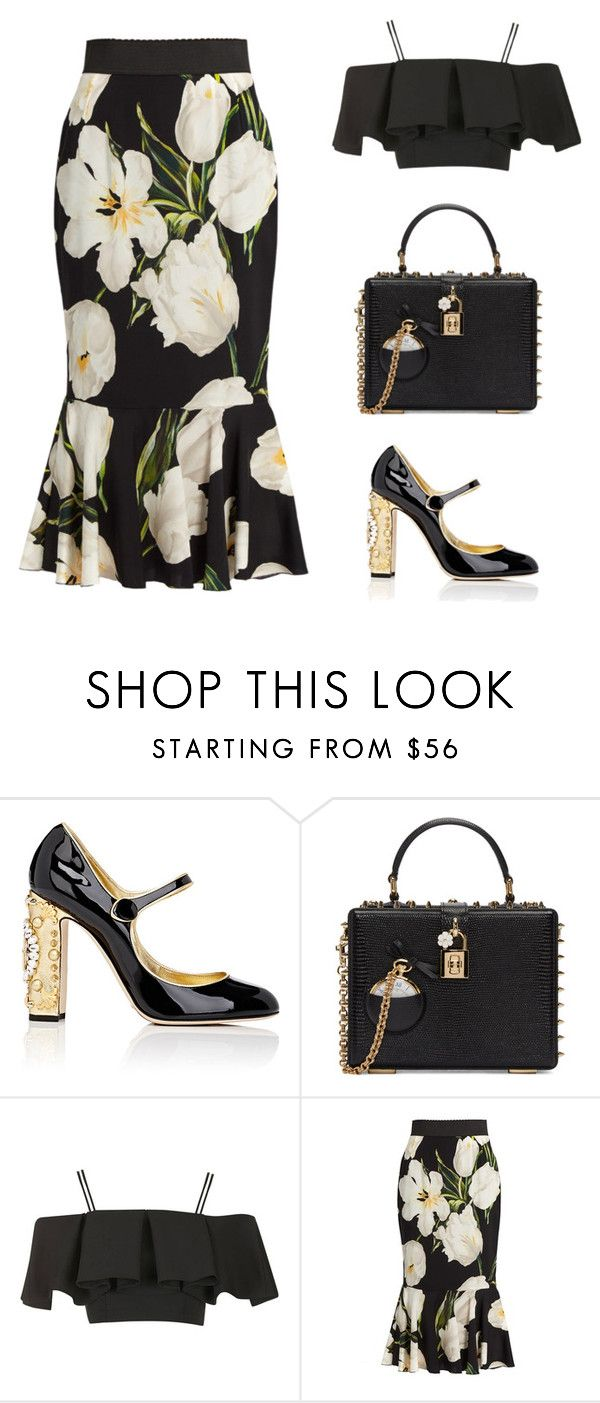 """""""Untitled #3989"""" by michelanna ❤ liked on Polyvore featuring Dolce&Gabbana and Topshop"""