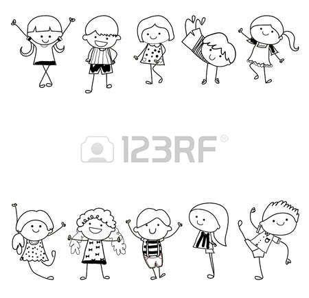 Croquis dessin groupe d 39 enfants enfants pinterest - Dessin groupe d enfants ...