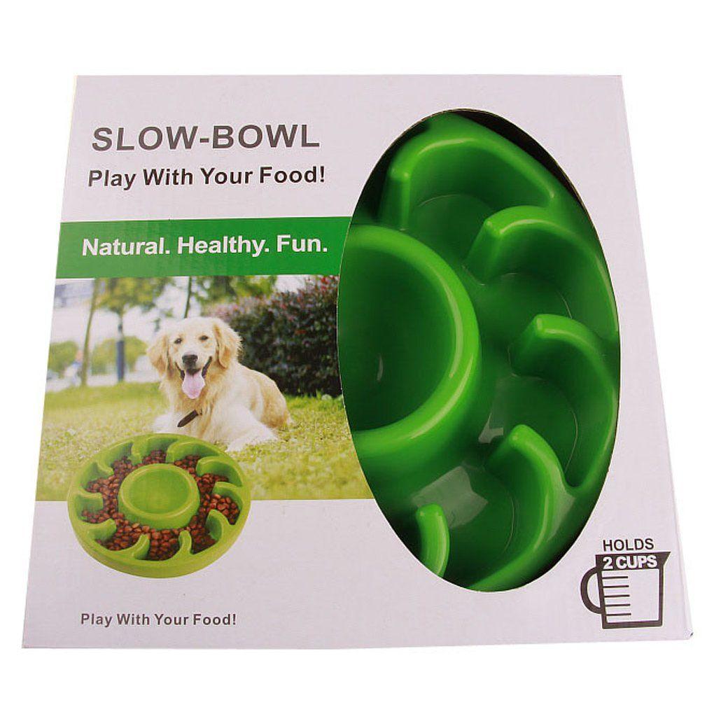 Pet Slow Feeder Dog Bowl Drink Water Bowl Noskid Antigulping