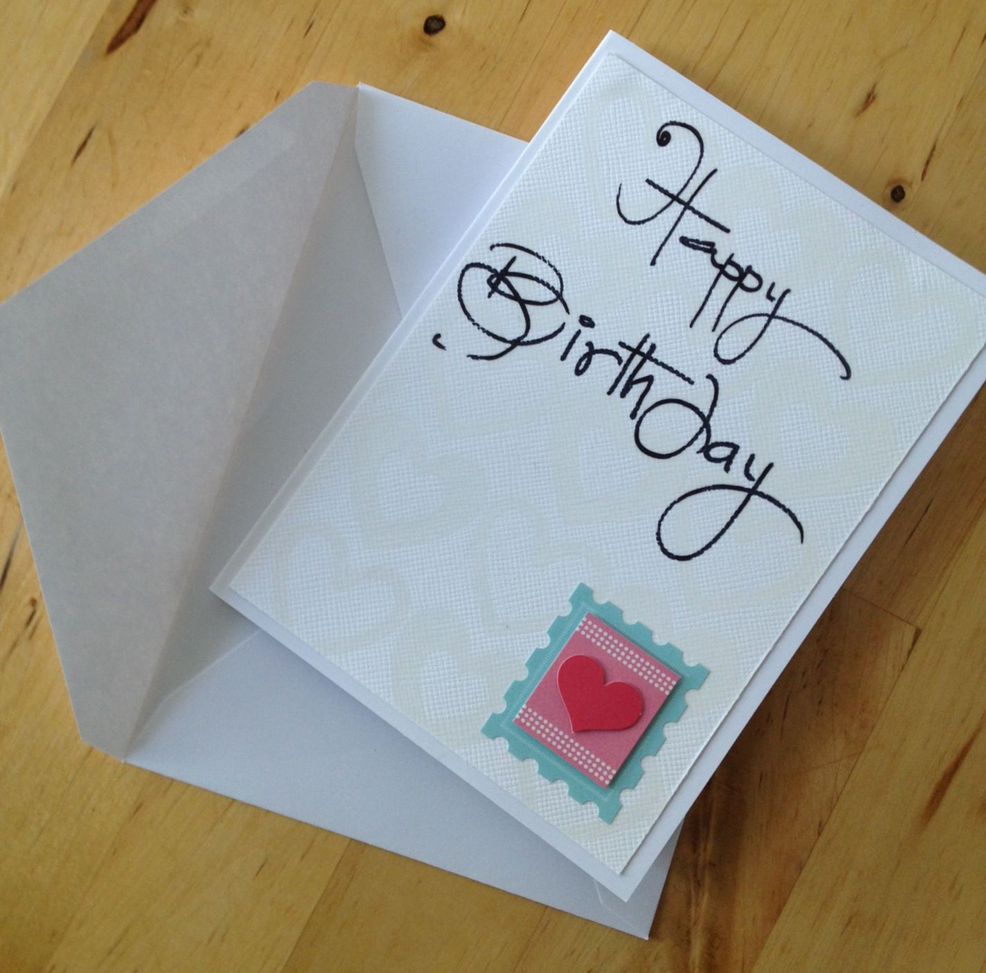 A birthday card in mins craft pinterest craft