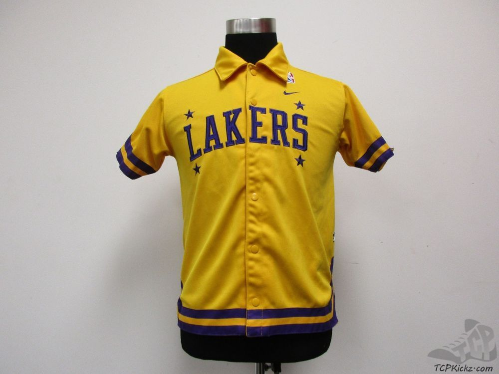 738681b3011e Nike Los Angeles Lakers Warm Up Shooting Shirt sz Youth M Medium SEWN  Basketball  Nike  LosAngelesLakers