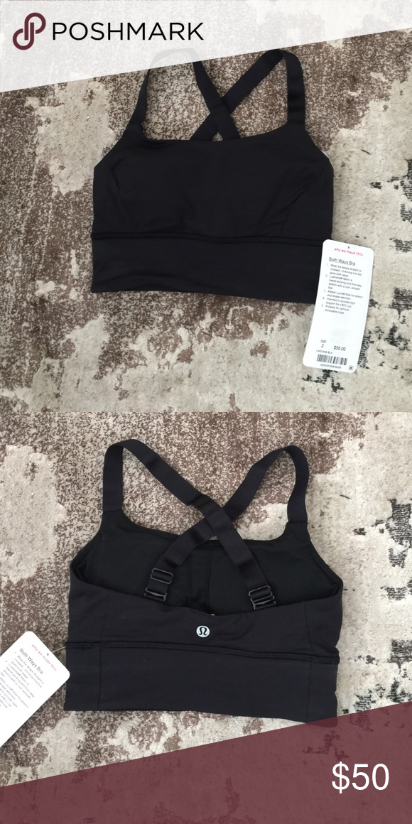 7990a7defbc45 NWT Lululemon Both Ways Sports Bra (price firm) This adorable bra can be  turned into straps straight and criss cross