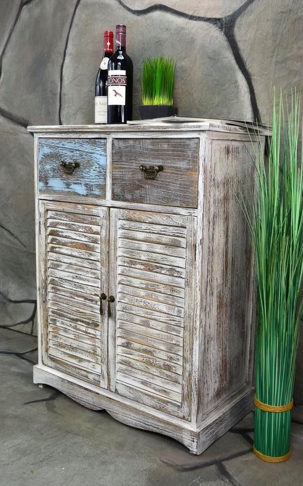 kommode schrank mit schubladen landhaus shabby chic vintage weiss lv1007 in mobel wohnen mobel kommoden ebay