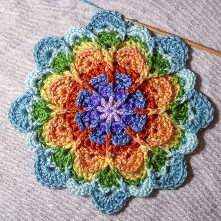 Pin de Shana Mc en crochet | Pinterest | Mandalas, Colchas y Ganchillo