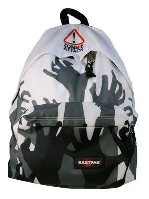 231a358aad zombie eastpak I'm a backpack girl, I've always liked this one I've had  their red one with the grenades, knives etc on for nearly a decade I still  use it ...