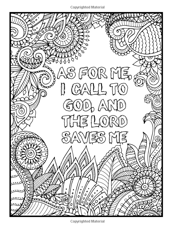 Amazon Psalms In Color An Adult Coloring Book With Inspirational Bible Christian Religious Themes And Relaxing Floral Designs