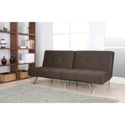 Marvelous Jacksonville Brown Fabric Foldable Futon Sofa Bed For The Spiritservingveterans Wood Chair Design Ideas Spiritservingveteransorg