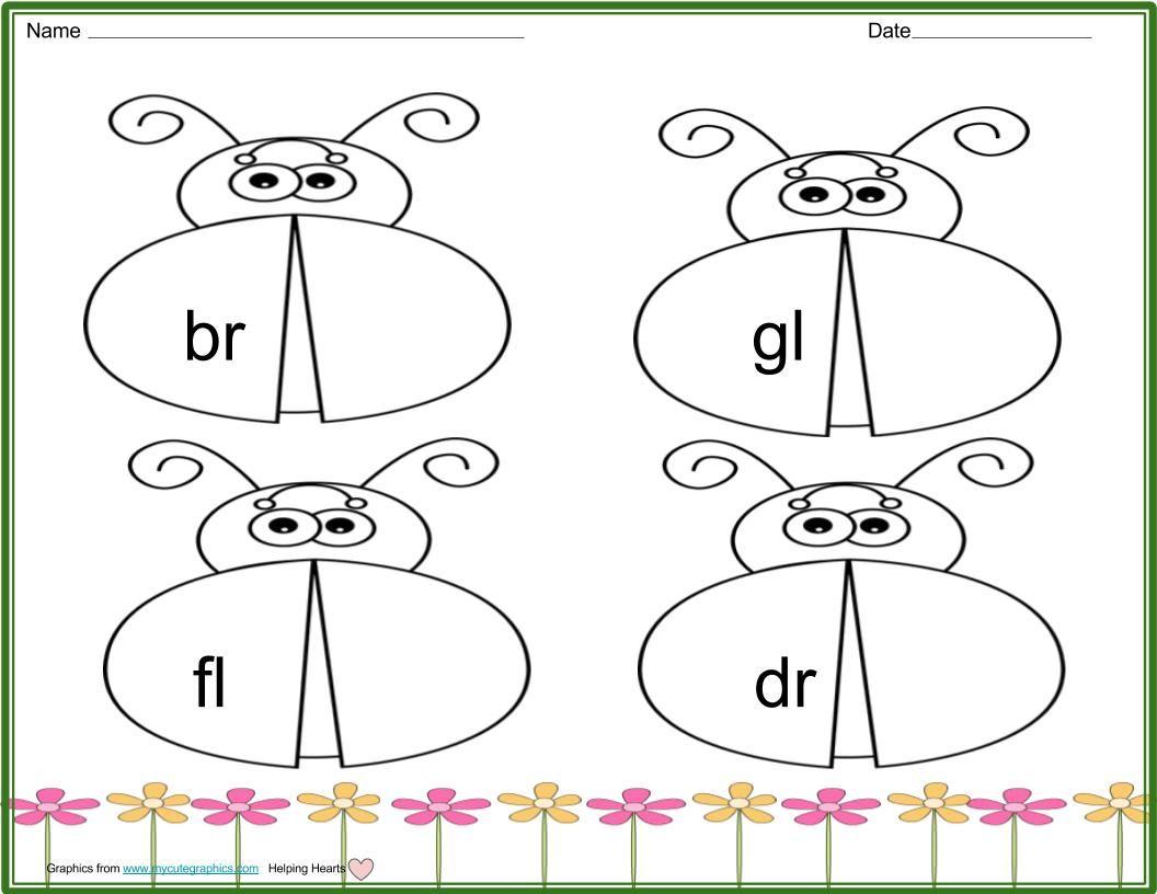 Ladybug Consonant Clusters