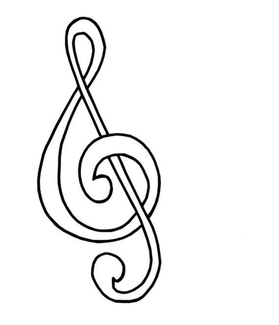 Coloring Page Treble Clef Muzik Sol Anahtari Cizim