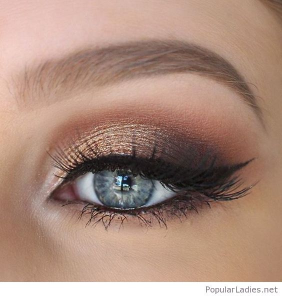 Gold And Brown Eye Makeup For Blue Eyes Makeup Pinterest Brown