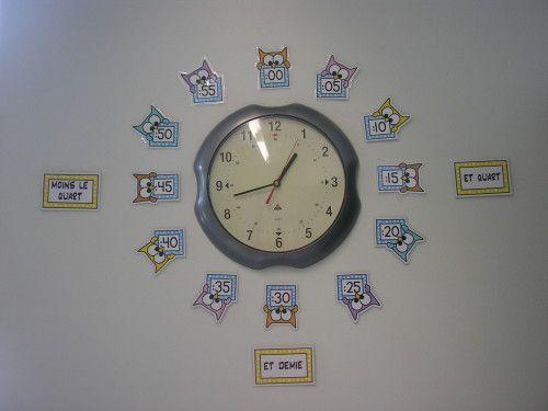 ma chouette horloge ce2 pinterest horloge chouette et cole. Black Bedroom Furniture Sets. Home Design Ideas