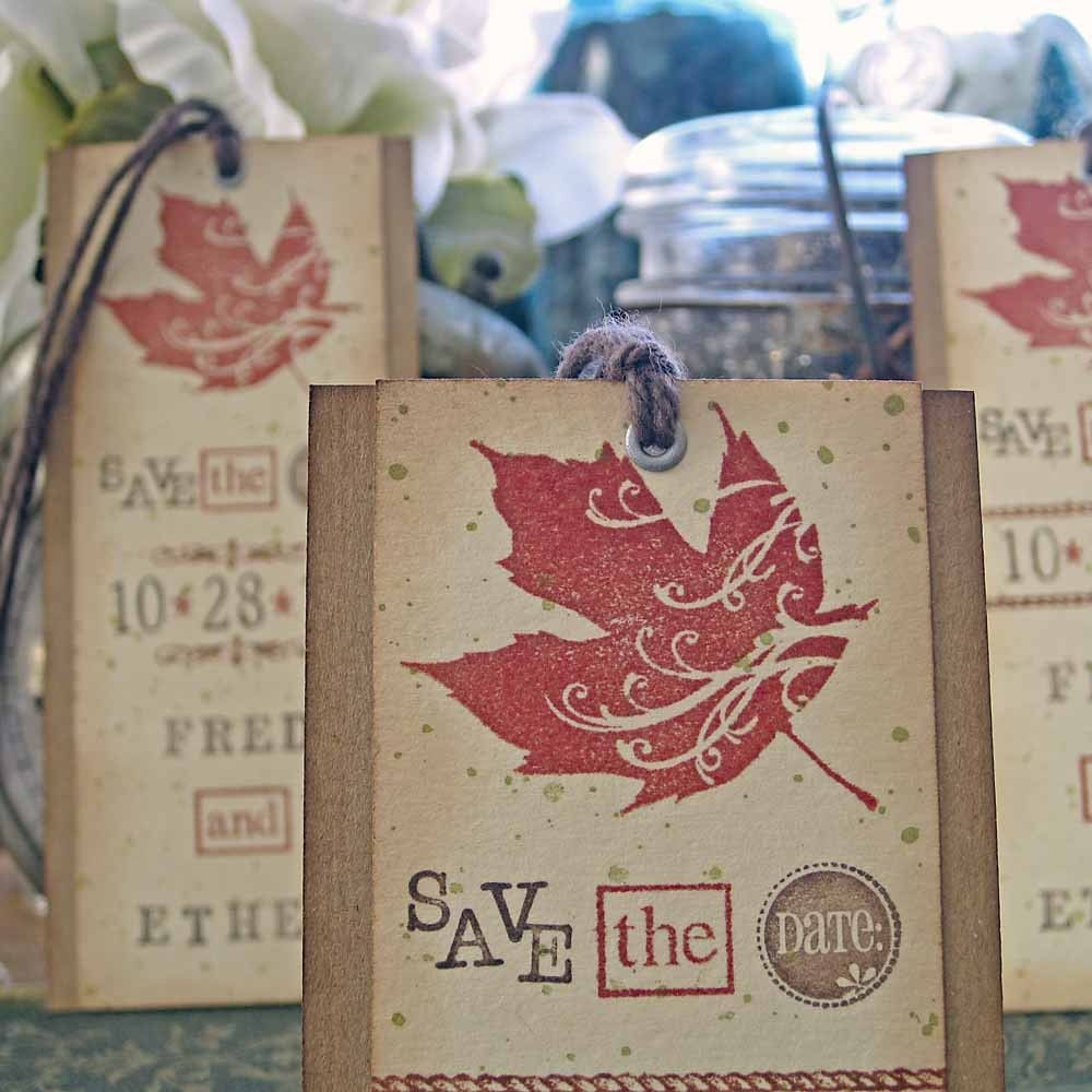 Rustic Autumn Wedding Save the Date Bookmarks. $3.00, via Etsy ...