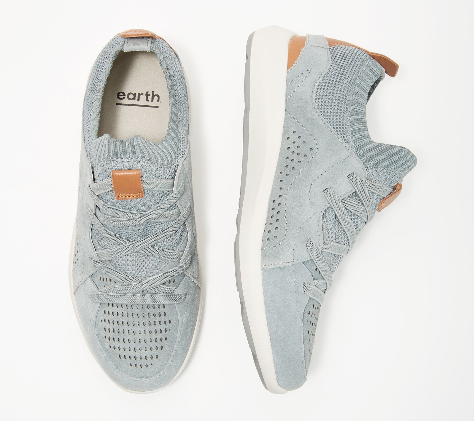 Earth Knit Lace-Up Sneakers - Desire