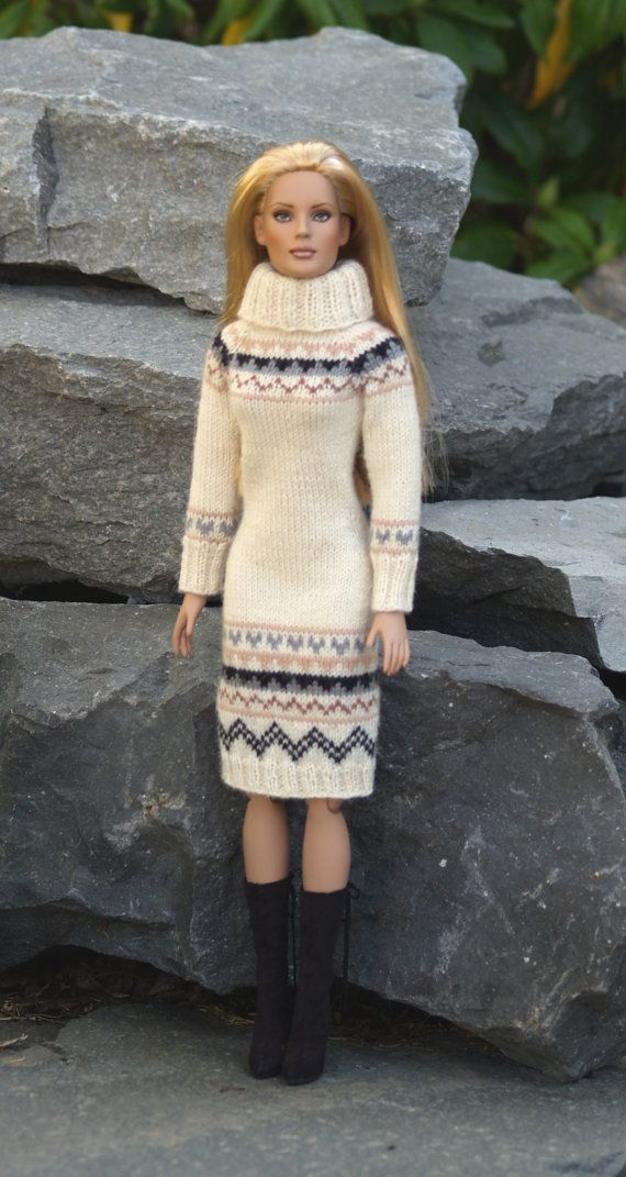 Warm & Wintry-TWKnitting Pattern for Tonner's by SewCoolSeparates