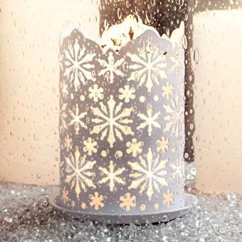 P91262 Winter Lace Candle Sleeve by PartyLite Gifts