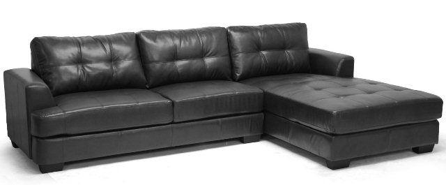 Surprising Baxton Studio Dobson Leather Modern Sectional Sofa Set Sofa Beatyapartments Chair Design Images Beatyapartmentscom