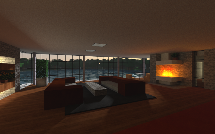 Modern Minecraft Living Room