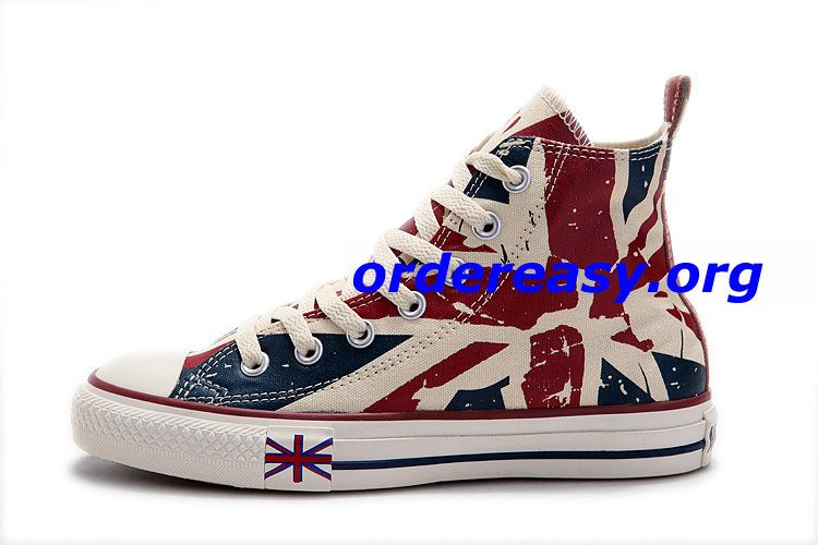 Converse London Olympic Games British Flag High Top Beige ...