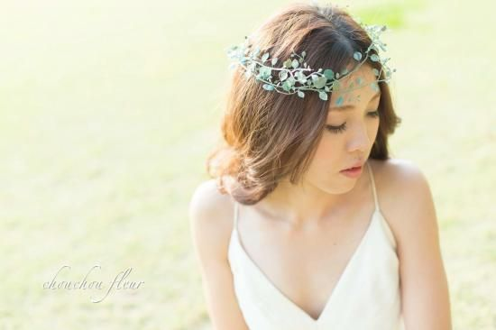 ナチュラルで可愛いブーケ、花冠、ショルダーブーケ、リストレットなど、フラワーアイテム満載です‼︎オンラインショップ、シュシュフルールchouchou fleur~幸せを永遠に飾れる花~