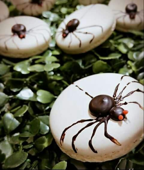 Spider macarons, creator unknown